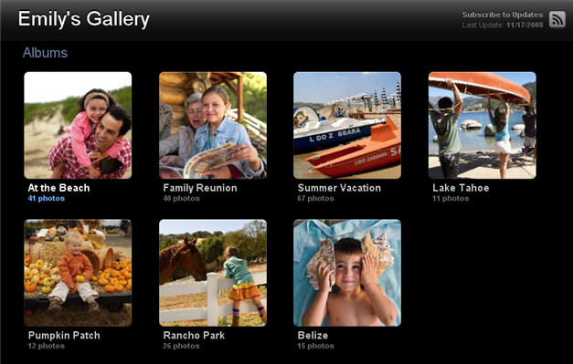 Sample MobileMe Gallery